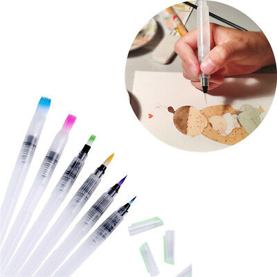 Calligraphy Cake Decorating Painting Brush Pilot Ink Refillable Water Pen