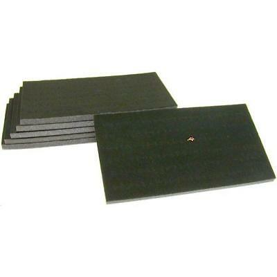 6 72 Slot Black Foam Ring Display Tray Inserts