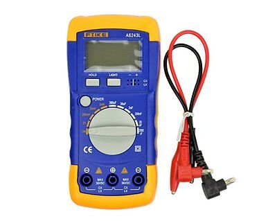A6243L Digital LCD Capacitance Inductance LCR Meter Tester Multimeter 200μF 20H