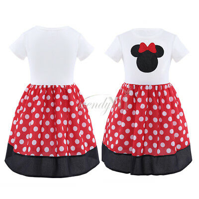 New Kids Baby Girls Polka Dots Party Dress Summer Skirt Toddler Clothes Size 1-6