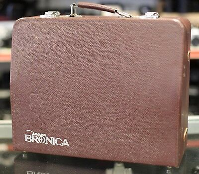 Bronica Outfit Case for Bronica S type. Brown Leather. Nice Condition