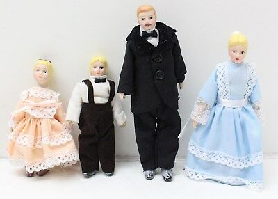 New Set of 4 Dolls House Miniatures Dolls House Family Figures - Free P&P