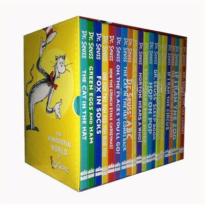 Wonderful World of Dr Seuss Collection 20 Books Box Set Pack NEW