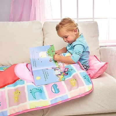 Peppa Pig Cosy Wrap Nap Bed Pink Ready Bed Pillow & Cover Machine Washable