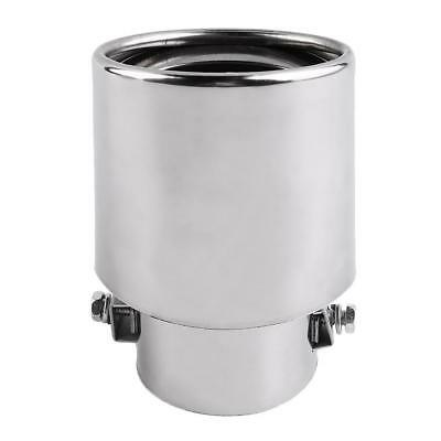 Round Universal Fits Car Stainless Steel Chrome Exhaust Tail Muffler Tip Pipe BF