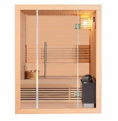 sauna saunakabine ecksauna massivholz traditionell harvia. Black Bedroom Furniture Sets. Home Design Ideas