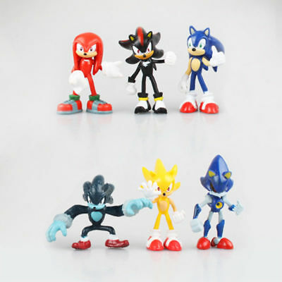 6pcs Cute Sonic the Hedgehog Game Action Figures Set Kids Toy Xmas Gifts UK