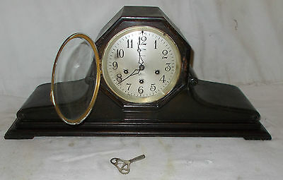 Large ANSONIA Napoleon MANTEL Wooden CLOCK W/ Westminster CHIME Sonia 3 VINTAGE