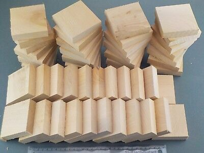50 English Beech wood turning or carving squares.  78 x 78 x 20mm.  1183