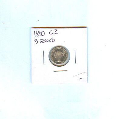 1840 Great Britain 3 Pence Victoria Dg Britanniar Regina - Cir