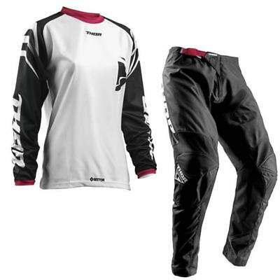 Thor Sector Motocross Ladies Jersey and Trousers 2018 - White Schwarz Pink