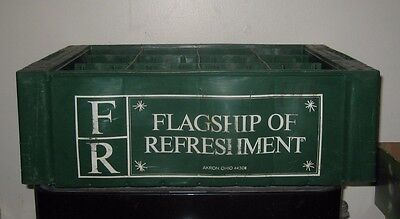 (1) 1960/70s Flagship of Refreshment Akron Ohio 32oz  ACL Soda Bottle Crate A