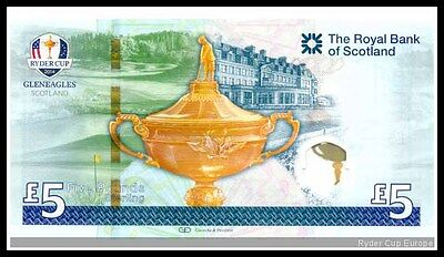 2014 Ryder Cup Limited  Edition £5 Note In Complete Presentation Folder P/paid