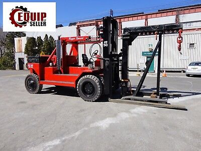2012 Riggers Special RS-50 50,000lb Forklift w/ Boom - Propane - ONLY 106 HOURS