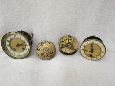 X 4 Vintage Hac And Other Clock Movements For Spares Or Repair