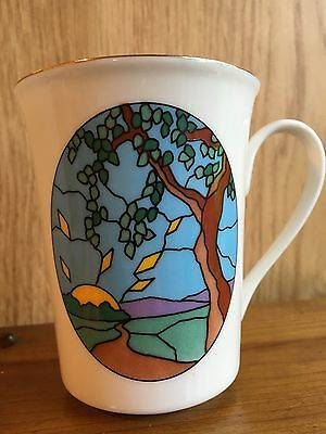 An Irish Blessing Stained Glass Coffee/Tea Mug Papel 1995, May The Road Rise Up