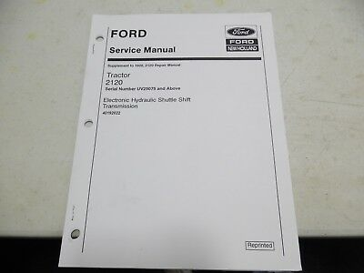 Ford 1920 2120 tractor service manual 9399 picclick ford 2120 electronic hydraulic shuttle shift transmission service manual fandeluxe Choice Image