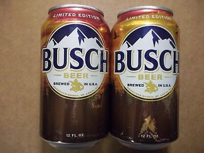 NEW - 12 oz. Busch Beer Can -  2017 LE Hunting Can - 666357 - BO AL StaTab