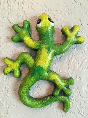 Terracotta GECKO Lizard Figure Mexican Pottery Figurine Painted Q. Roo Mexico