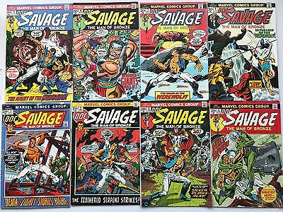 Doc Savage #1-8 Collection Straight Run The Man of Bronze Marvel 8 Comic Lot