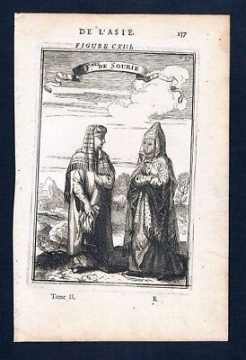 1683 - Syrien Syria costumes Asia engraving