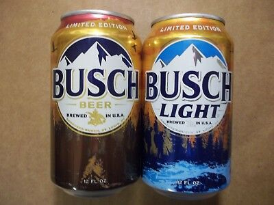 12 oz.  Busch & Busch Light Beer Cans  -  2017 Hunting Cans  -  666357 & 666358