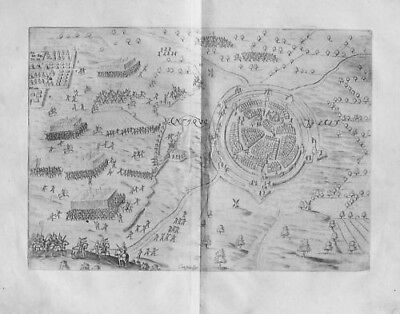 1615 - Oldenzaal Battle of 1597 map Holland