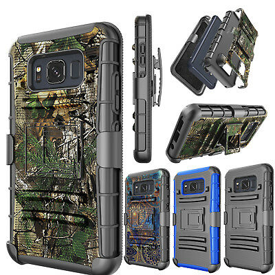 Samsung Galaxy S8 Active Carrying Phone Cover + Belt Clip Holster Hybrid Case