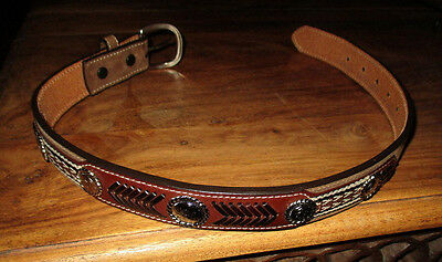 Boy's NACONA 100% Leather Brown Western Belt N4421644 Sz 22 NWOT
