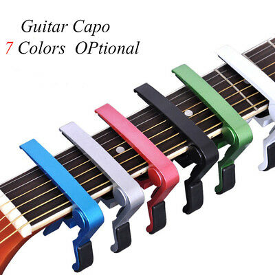 Aluminium Alloy Tune Quick Change Clamp Key Acoustic Guitar Capo