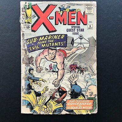 The X-Men #6 Collection A Uncanny Sub-Mariner Silver Age Stan Lee Marvel Comics