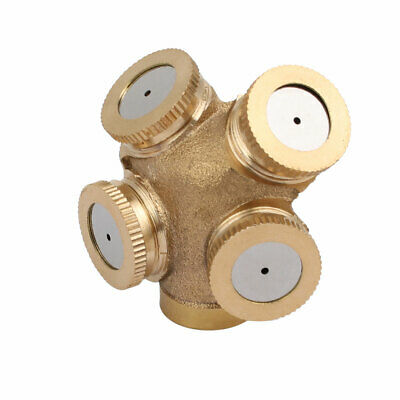 uxcell M14 Brass Single Hole Spray Sprinklers Misting Nozzle Irrigation Connector 4pcs