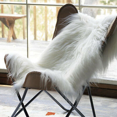 60x90cm White Ivory Soft Long Fur Chair Sofa Seat Cover Mat Area Sheepskin Rugs