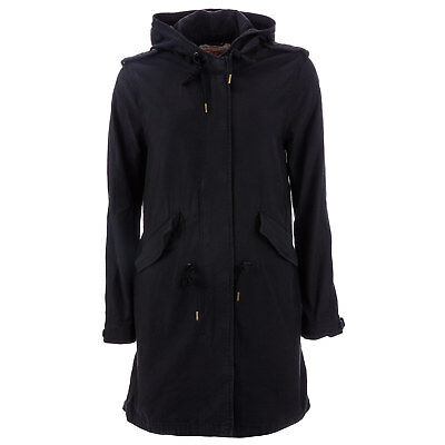 Womens Levi's Military Fishtail Parka Jacket In Caviar From Get The Label