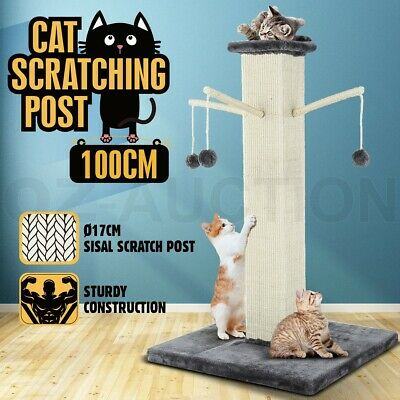 Cat Scratching Post Climbing Tree Frame Scratcher Tower with Toys 100CM