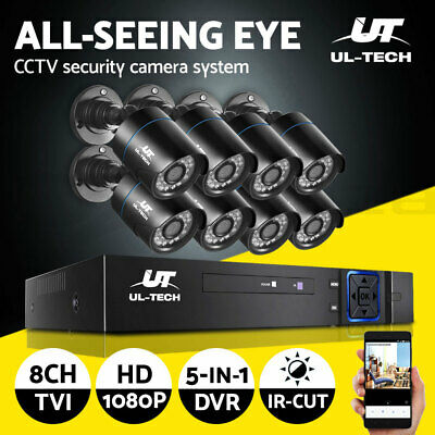 【20%OFF$171】 CCTV Cameras Security Camera System 8CH DVR 1080P HD Set Outdoor IP