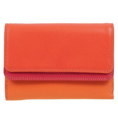 Mywalit Purse Double Flap Pink Leather Ladies Wallet Candy 250 24