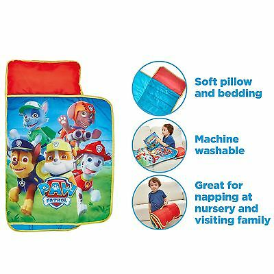Paw Patrol Cosy Wrap Nap Bed With Pillow And Cover Chase Rubble Official New