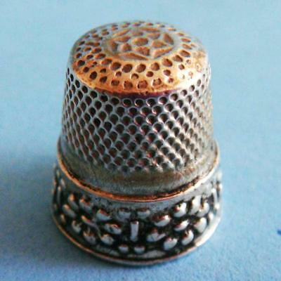 L@@k Lovely Vintage Sterling SILVER Nature Flowers Daisies Ornate Sewing Thimble