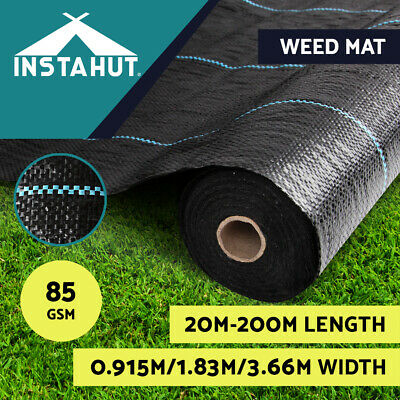 0.915m 1.88m 3.66m Weedmat Weed Control Mat Woven Fabric Gardening Plant