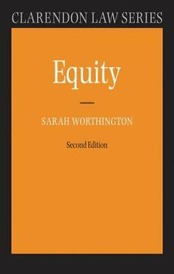 Equity (Clarendon Law Series) (Paperback), Worthington, Sarah (De. 9780199290505