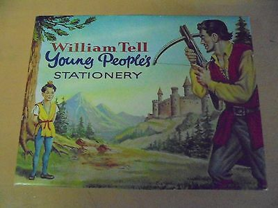 Vintage William Tell Young People's Stationery Set C1960 Tv Series Based