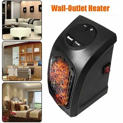 Handy Heater Electric 350 Watts Wall Outlet Plug In Compact Ceramic Portable HM
