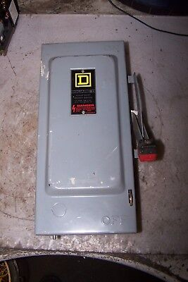 Square D 30 Amp Fused Safety Switch 600 Vac 20 Hp 3 Phase H361