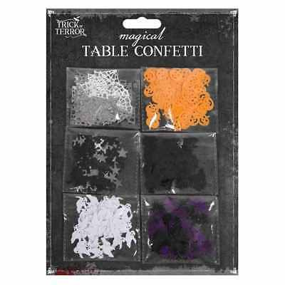Halloween Table Confetti Pumpkin Bat Ghost Spider Web Scary Party Decorations