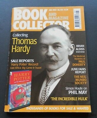 Book and Magazine Collector-Aug 2003-No.233-Hardy-Aldiss-Incredible Hulk-Nr.Fine