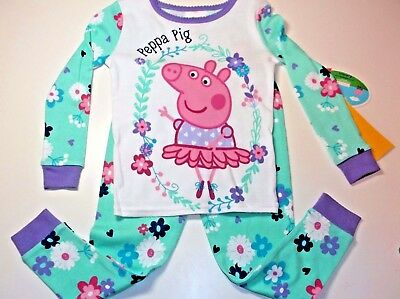 New Peppa Pig Toddler girls 2T 3T 4T 5T pajamas Peppa Pig