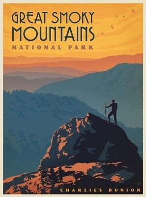 """Great Smoky Mountains Art Poster Travel Photo Fridge Magnet 2""""x 3"""" Collectibles"""