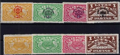 P35537 / Lithuania / Air Mail / Y & T # 32 / 35 – 37 / 40 Neufs * / Mh 120 €