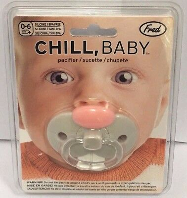 Lot of 2 Fred Chill Baby Bunny Teeth Pacifier Funny Teeth Bunny